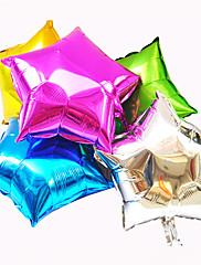 漫画の五芒星のアルミニウム膜18インチのヘリウムbballoons(7個入)(ランダムカラー)