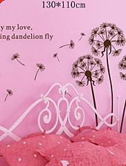 klasická černá strom révy vinné létání motýl stěna obtisk zooyoo695 dekorativní odstranitelné PVC stěna nálepka
