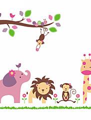 Žirafa opice slon lev zoo zvíře samolepky na zeď pro dětský pokoj zooyoo869 PVC stěnu bytové dekorace DIY