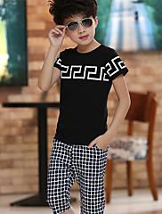 Boy Léto Bavlna Sady oblečení Krátký rukáv