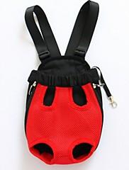 ネコ 犬 キャリーバッグ フロントバックパック ペット用 キャリア 携帯用 高通気性 純色 ベージュ パープル レッド ブルー ピンク