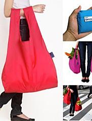 バッグランダムな色をお買い物携帯用折り畳み式保存袋セット4本入り