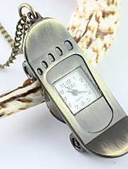 男性のスクーターパターンアナログクォーツポケットネックレス時計