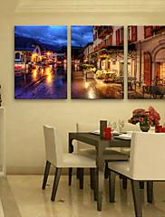 LED Kanvas Sanat Krajina Klasický Realismus,Tři panely Vertikálně Tisk Art Wall Decor For Home dekorace