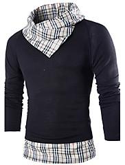 男性用 長袖 Tシャツ , コットン/ポリエステル カジュアル/オフィス