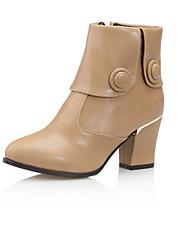 Boty-Koženka-Módní boty-Dámské-Černá Zelená Mandlová-Outdoor Kancelář Běžné-Kačenka
