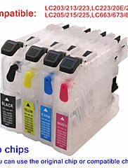 bloom® plnitelný inkoustová kazeta lc203 lc213 lc223 lc20e lc22e lc205 lc215 lc225 lc663 lc673 lc675 pro bratra