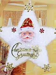 """42 centimetrů / 16,5 """"bílé bavlněné hvězda Vánoce sněhulák Santa Claus čalouny vánoční strom Hotel Home dekorace oken dárek"""