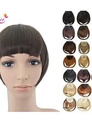 smilco前髪でフリンジ自然な髪の拡張子のクリップをまっすぐ正面きちんとビッグバンのかつらゴージャスなクリップを強打