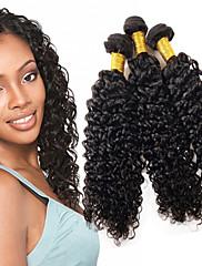 人間の髪編む ブラジリアンヘア カール 12ヶ月 1個 ヘア織り