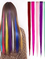 1クリップ使用可能な6色の髪の拡張子で長い合成ストレートとクリップ
