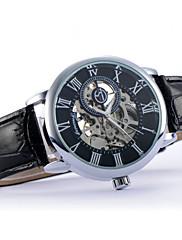 Pánské Náramkové hodinky Automatické natahování Kůže Kapela Černá Hnědá Černá Hnědá Bílá /modrá Zlatá + černá