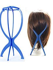 Displej paruka stojan manekýn figurína hlavy čepice čepice držák vlasy skládací stabilní nástroj (modrý)