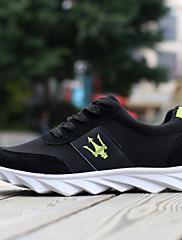 男性 ウォーキング 靴 レザーレット / 化繊 ブラック / ブルー / グレイ