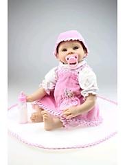 npkdoll生まれ変わった赤ちゃん人形柔らかいシリコーン22inchの55センチメートル磁気口美しいリアルなかわいい男の子の女の子のおもちゃピンクの衣装
