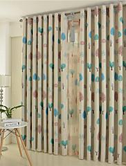 2パネル ウィンドウトリートメント 欧風 ベッドルーム ポリエステル 材料 遮光カーテンドレープ ホームデコレーション For 窓