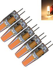 1.5W G4 LEDキャンドルライト T 1 COB 190-210 lm 温白色 / クールホワイト 装飾用 DC 12 / AC 12 V 5個