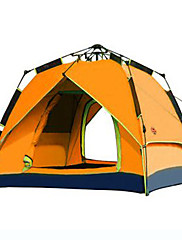 SHAMOCAMEL 3-4 persons Tent Double Automatic Tent One Room Camping Tent 2000-3000 mm Ultraviolet Resistant Rain-Proof Windproof-Hiking