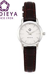 Dámské Módní hodinky Křemenný Japonské Quartz Voděodolné Kůže Kapela Hnědá Značka KEDIEYA