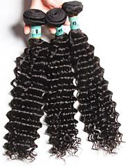 人間の髪編む インディアンヘア ウェーブ 18ヶ月 3個 ヘア織り