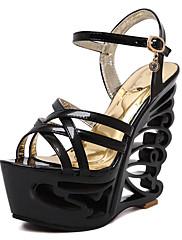 Ženske cipele-Mokasine-Ležerne prilike-Sintetika / Umjetna koža-Ravna potpetica-Japanke-Crna / Bijela