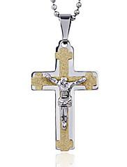Pánské Dámské Náhrdelníky s přívěšky Přívěšky Nerez Titanová ocel Cross Shape Haç Zlatá Šperky Denní Ležérní 1ks