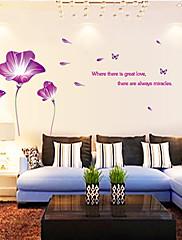 Botanický motiv / Zátiší / Módní / květiny / Krajina / Volný čas Samolepky na zeď Samolepky na stěnu,PVC 90*60*0.1