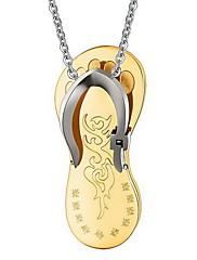 Pánské Dámské Náhrdelníky s přívěšky Přívěšky Nerez Zlatá Šperky Pro Denní Ležérní 1ks