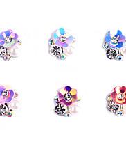 6ks vzory ab slitina šperky náhodné barvy