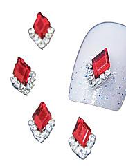 10個入り赤侯爵の3DラインストーンのDIY合金アクセサリーネイルアートの装飾