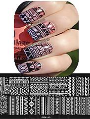 1ks 12 * 6 cm nail art ražení deska krásná květina barevný obraz nail designu nástroje les cool01-10