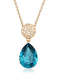 Dámské Náhrdelníky s přívěšky Kubický zirkon Zirkon Pozlacené Round Shape Módní Námořnická modř Šperky Svatební Párty Denní Ležérní 1ks