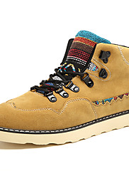 Boty-Semiš-Pohodlné Kombat boty Módní boty Motorkářské boty Pracovní obuv-Pánské-Černá Modrá Žlutá-Běžné Atletika Party-Plochá podrážka