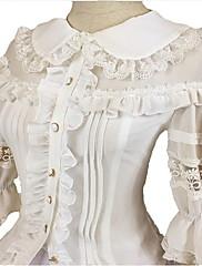 ブラウス/シャツ 甘ロリータ ロリータ コスプレ ロリータドレス ブラック ホワイト ゼブラプリント 3/4スリーブ ロリータ ドレス のために FRP