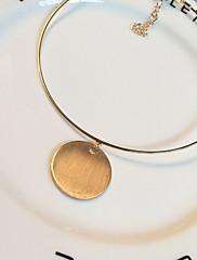 Dámské Obojkové náhrdelníky Náhrdelníky s přívěšky Circle Shape Slitina Bohemia Style Přizpůsobeno Zlatá Šperky Pro Denní Ležérní 1ks