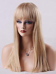 美しいキャップレスかつら高品質の長いストレート人間の髪の毛24インチ