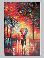 Ručně malované Abstraktní / Krajina Jeden panel Plátno Hang-malované olejomalba For Home dekorace