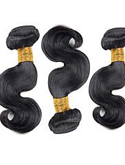 Lidské vlasy Vazby Brazilské vlasy Vlnité 18 měsíců 3 kusy Vazby na vlasy