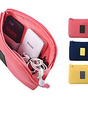 1枚 パスポート&IDホルダー イヤホンホルダー / ケーブル巻取り機 防水 防塵 携帯式 のために 小物収納用バッグ オックスフォードクロス-イエロー ブルー ピンク