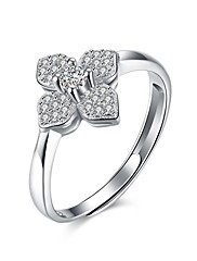 Prstýnky Kubický zirkon Svatební / Párty / Denní / Ležérní Šperky Stříbro Dámské Prsten 1ks,8 Stříbrná