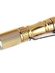 vedl zoomovatelný facus mini baterka aa / 14450 pochodeň světla lampy stříbrná plná množina nabíječky