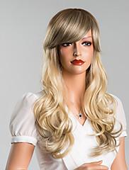魅力的な色のついたロングボディ波キャップレスは、高品質の人間の毛髪を24インチウィッグ