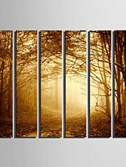 Pejzaž Europska Style,Više od 5 ploha Platno Vertikalno Ispis Art Zid dekor For Početna Dekoracija