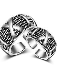 指輪 ストーン無し セクシー / クロスオーバー / ファッション / 調整可能 / 愛らしいです / ヒップホップ / マルチの方法が着用します 結婚式 / パーティー / 日常 / カジュアル ジュエリー 純銀製 女性 / 男性 / 夫婦関節リング / バンドリング /