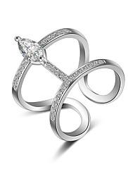 指輪 クリスタル / 模造ダイヤモンド 愛らしいです / マルチの方法が着用します / セクシー / クロスオーバー / ファッション / 調整可能 結婚式 / パーティー / 日常 / カジュアル ジュエリー 純銀製 女性 関節リング / バンドリング / ナックリリング