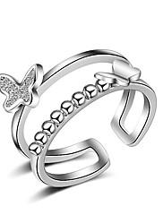 指輪 セクシー クロスオーバー ファッション 調整可能 愛らしいです マルチの方法が着用します 結婚式 パーティー 日常 カジュアル ジュエリー 純銀製 女性 関節リング バンドリング ナックリリング 1個,ワンサイズ ゴールデン シルバー