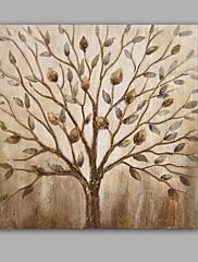 Ručně malované Abstraktní / Květinový/Botanický motiv olejomalby,Moderní / Klasický Jeden panel Plátno Hang-malované olejomalba For Home
