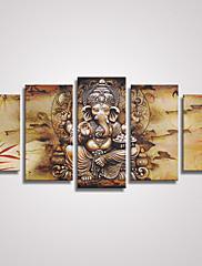 抽象画 動物 近代の リアリズム,5枚 キャンバス 横式 プリント 壁の装飾 For ホームデコレーション