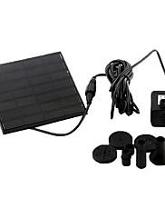 Aquarium Water Pumps Solar Black Plastic 1.2W 7V 160 L/H for Pond Fountain