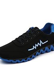 Pánské Obuv Plátno Jaro Podzim Pohodlné Atletické boty Chůze Šněrování Pro Ležérní Oranžová Zelená Modrá